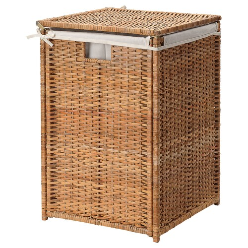 IKEA BRANÄS Laundry basket with lining