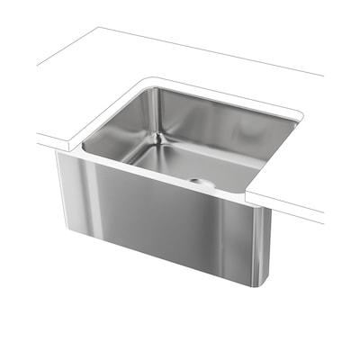 """BREDSJÖN Apron front sink, under-glued stainless steel, 24x18 """""""