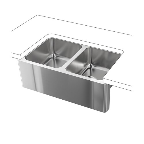 IKEA BREDSJÖN Apron front double bowl sink