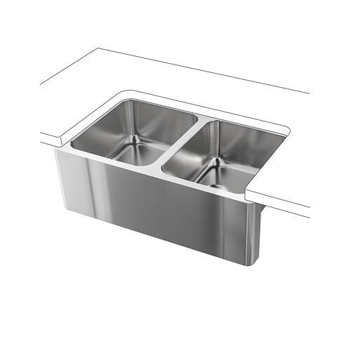 BredsjÖn A Front Double Bowl Sink