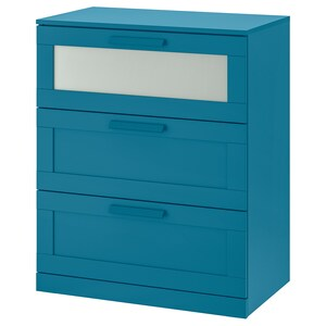 Color: Dark green-blue/frosted glass.