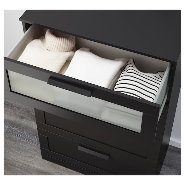 Brimnes 4 Drawer Dresser Black