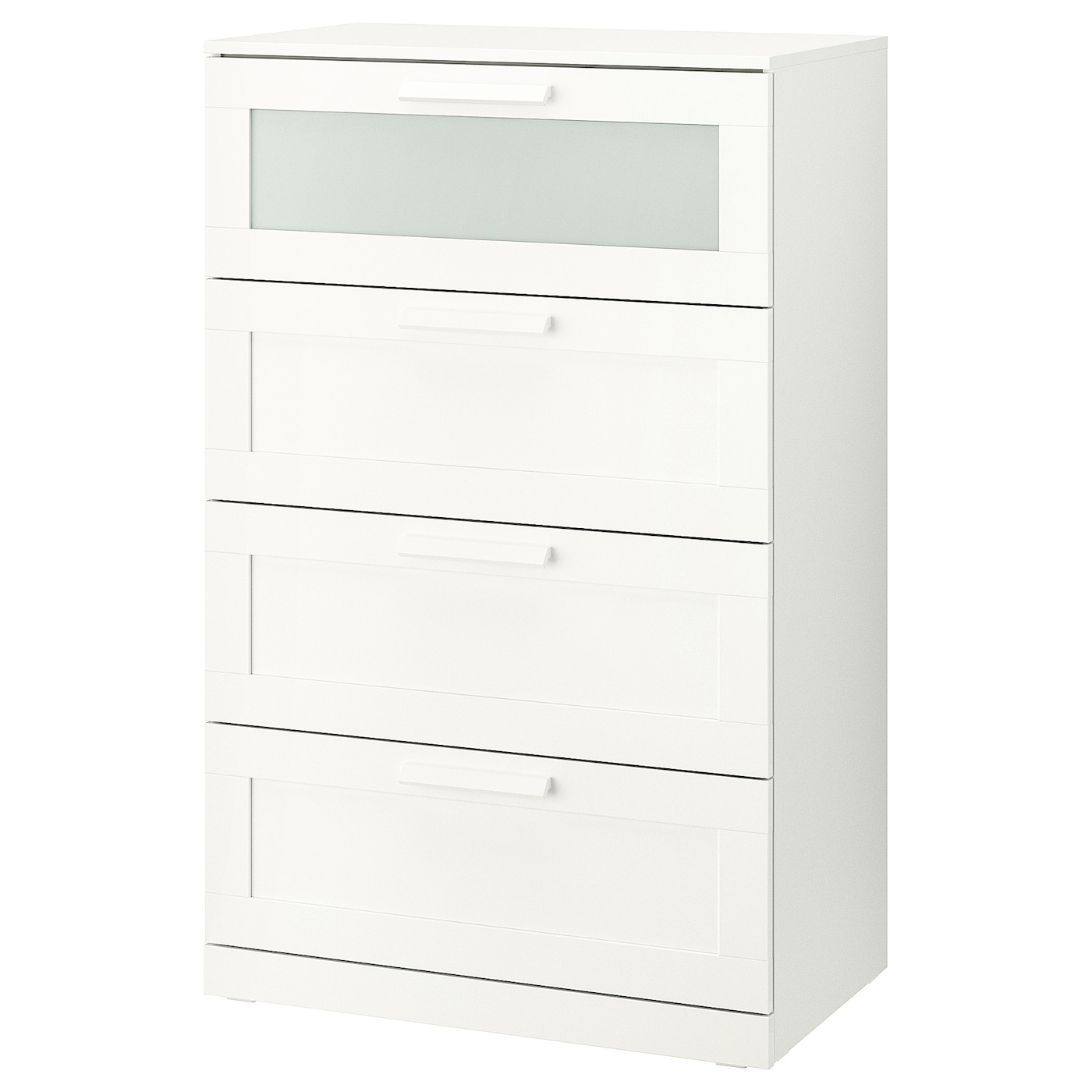 Picture of: Brimnes 4 Drawer Dresser White Frosted Glass Ikea