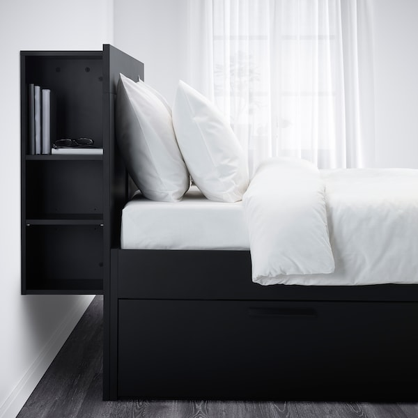 Brimnes Bed Frame With Storage Headboard Black Full Ikea,Cottage Country Kitchen Lighting