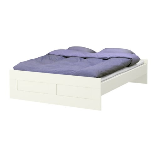 BRIMNES Bed frame IKEA Adjustable bed rails allow the use of mattresses of different heights.