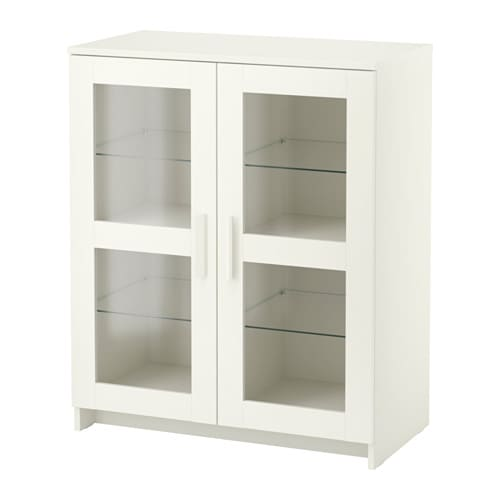 Brimnes cabinet with doors glass white ikea - Vitrine en verre ikea ...
