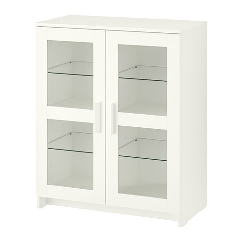 Brimnes Cabinet With Doors Gl White