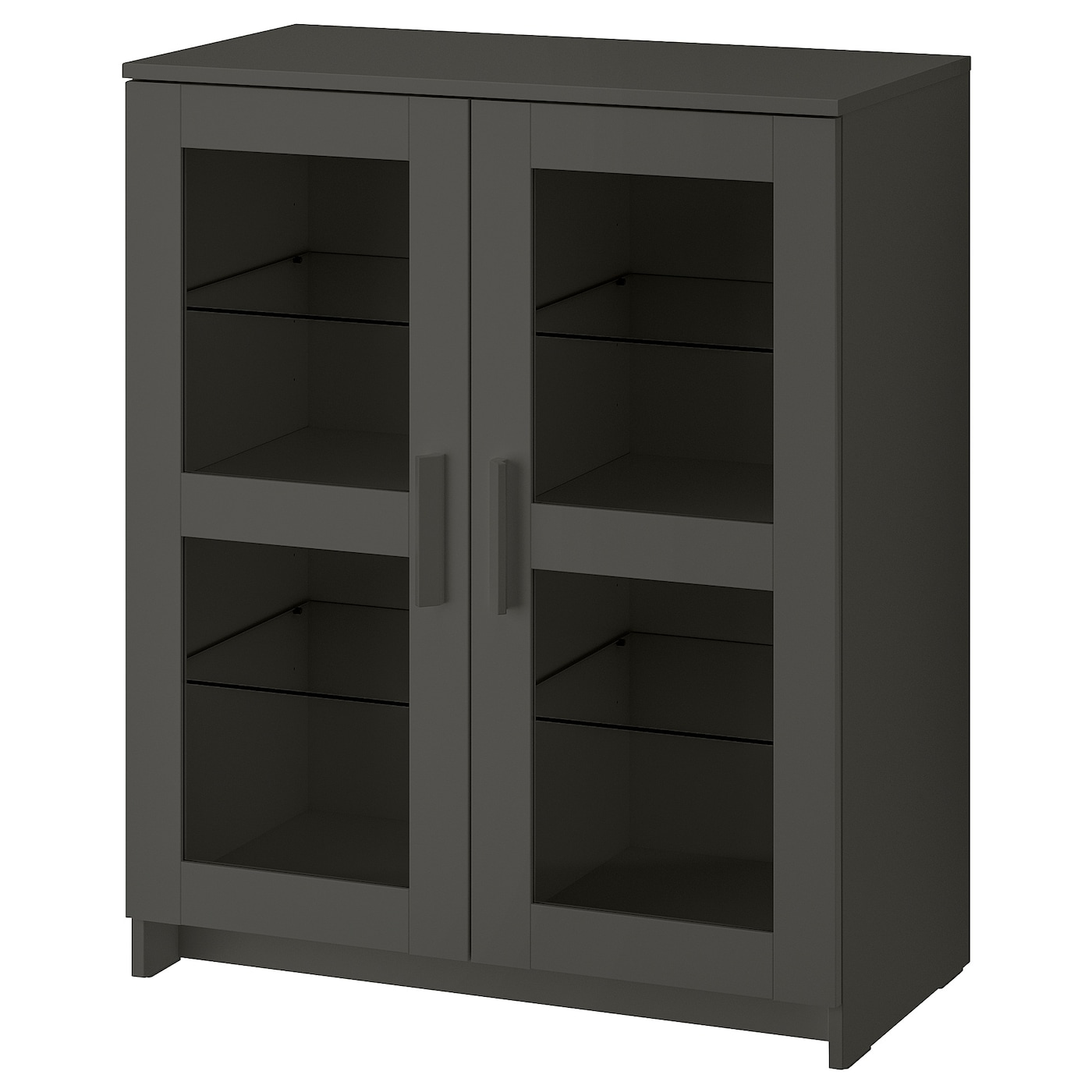 Brimnes Cabinet With Doors Glass Gray Ikea