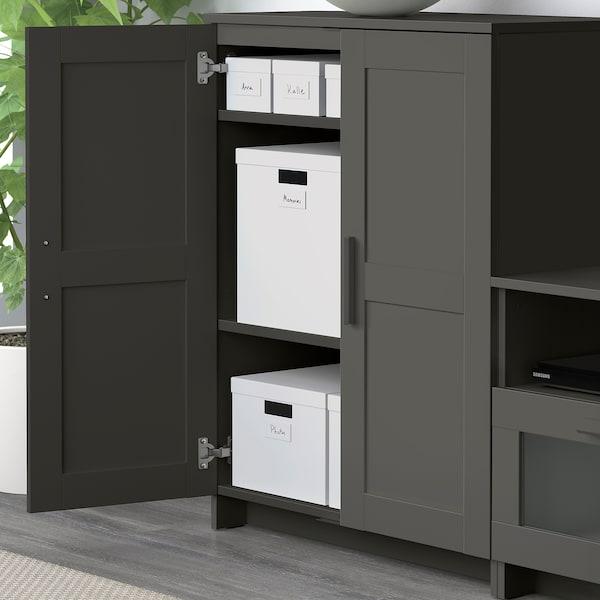 "BRIMNES cabinet with doors gray 30 3/4 "" 16 1/8 "" 37 3/8 "" 55 lb"