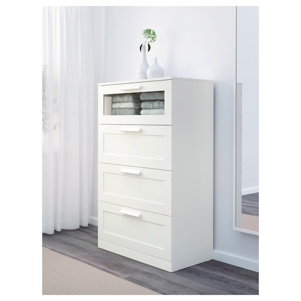 Brimnes 4 Drawer Dresser White