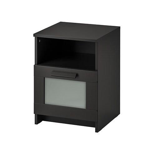 Brimnes Nightstand Black Ikea