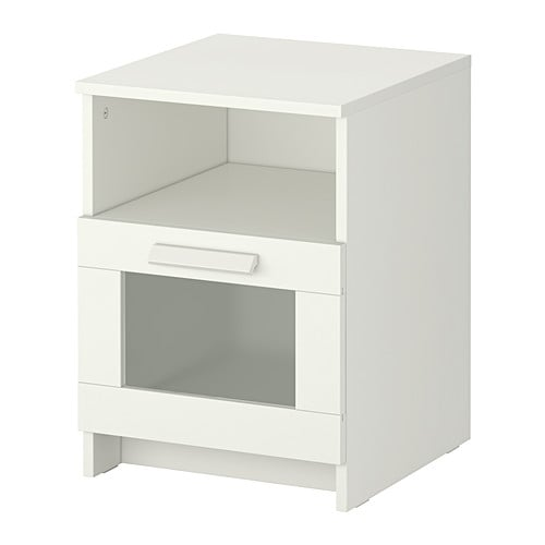 Brimnes nightstand white ikea for Mini table de chevet