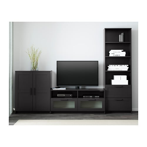 BRIMNES TV storage combination IKEA This TV storage combination has plenty of extra storage and makes it easy to keep your living room organized.