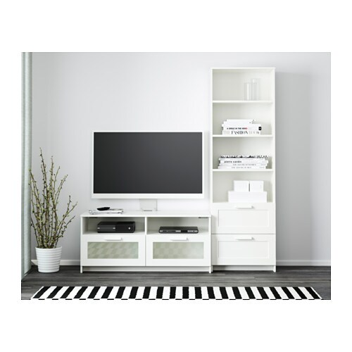Brimnes tv storage combination white ikea for Mobiletti tv ikea