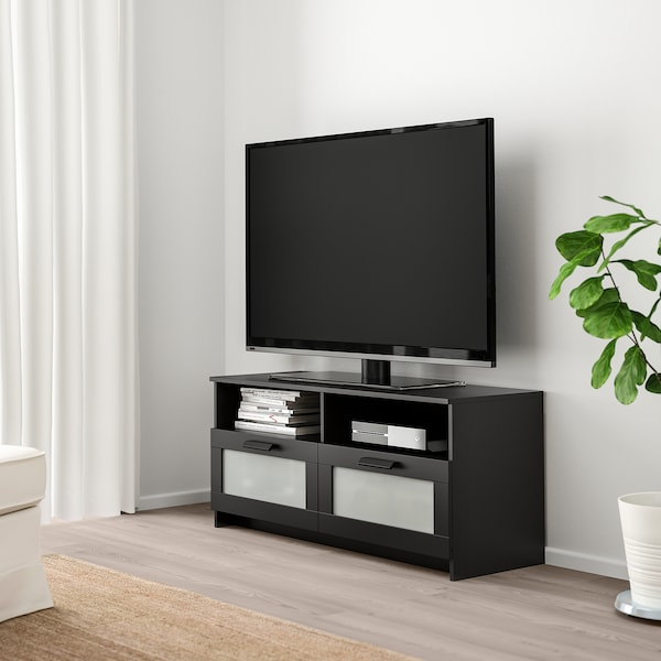 "BRIMNES TV unit, black, 47 1/4x16 1/8x20 7/8 """