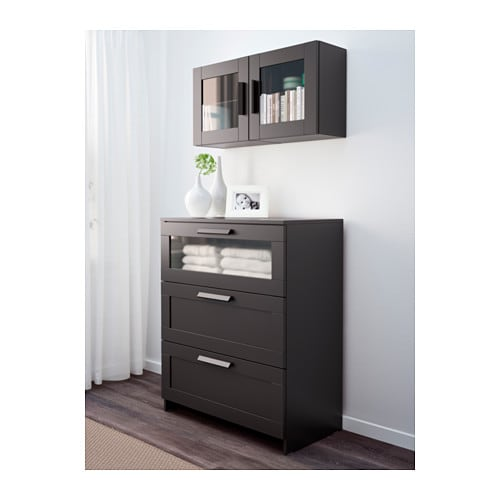 Black Wall Cabinet brimnes wall cabinet with glass door - black - ikea