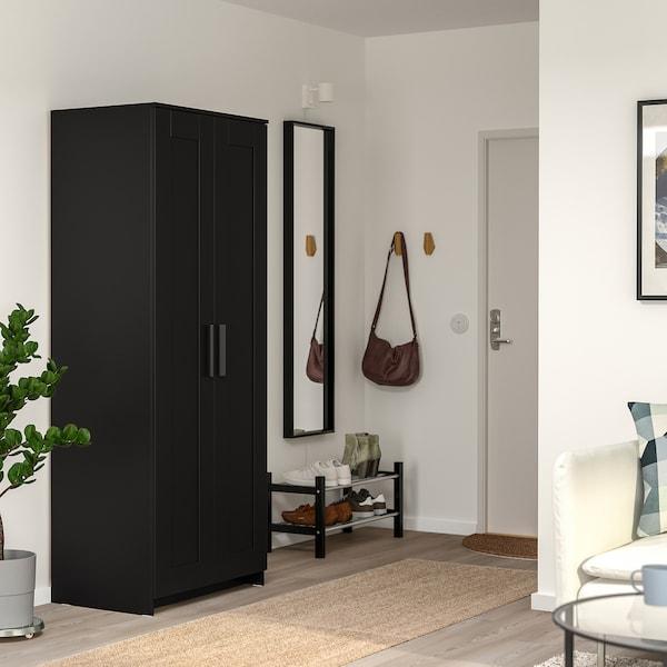 Brimnes Wardrobe With 2 Doors Black 30 3 4x74 4 Ikea