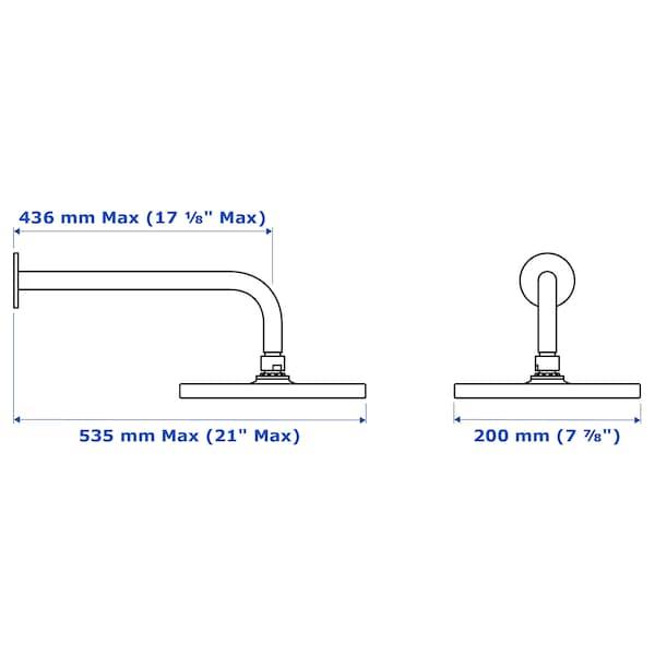 BROGRUND 1-spray showerhead with arm, chrome plated