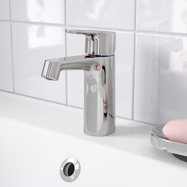 BROGRUND Bath faucet with strainer, chrome plated