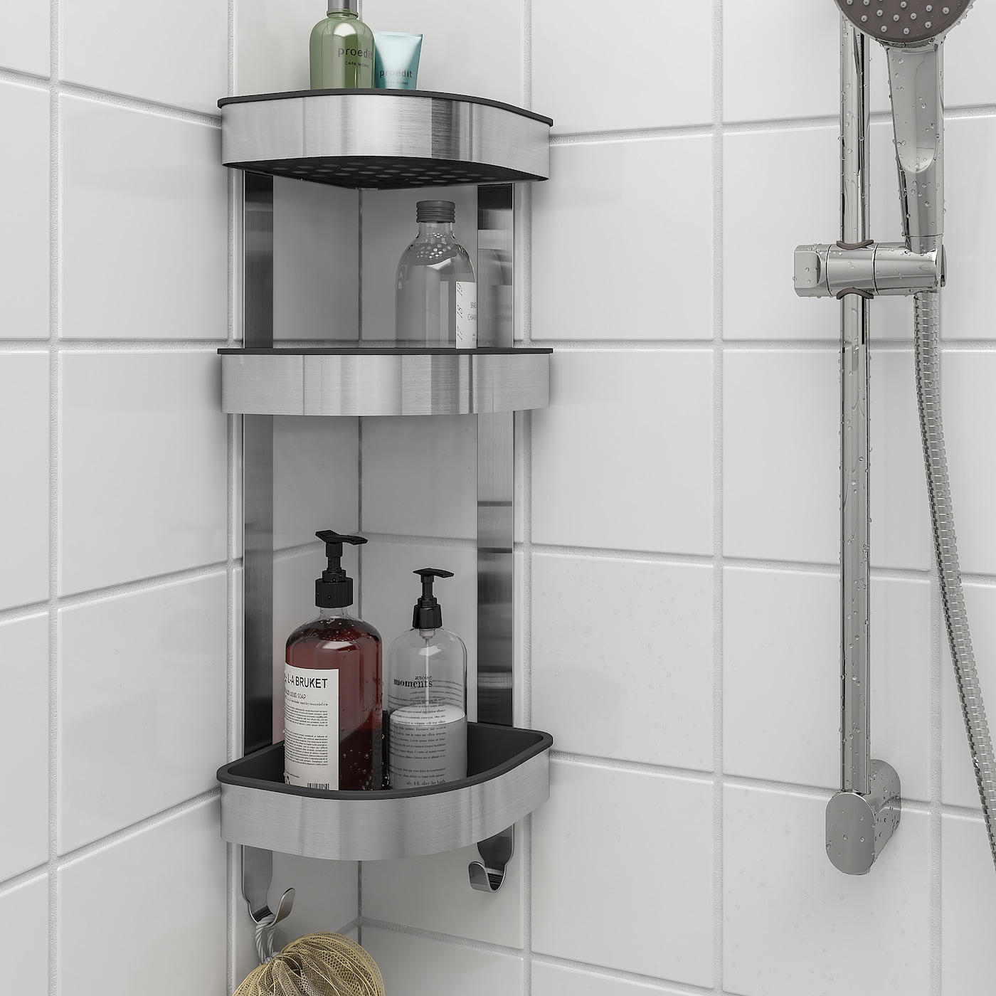 Brogrund Corner Wall Shelf Unit