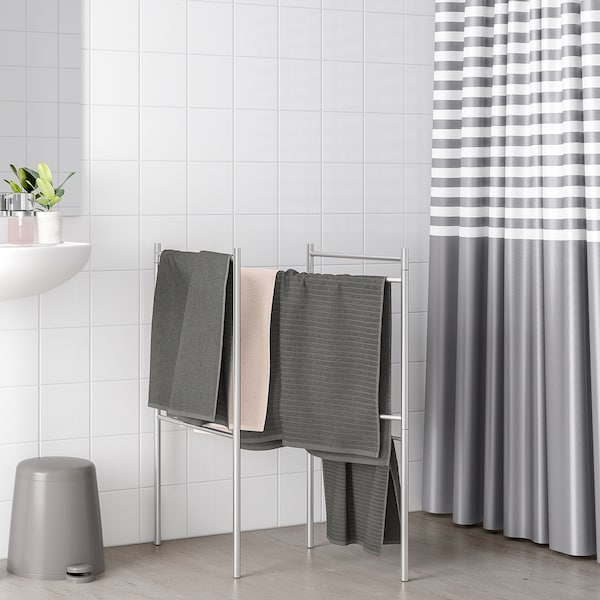 """BROGRUND extendable towel stand stainless steel 48 ¾ """" 48 ¾ """" 61 """" 33 """""""