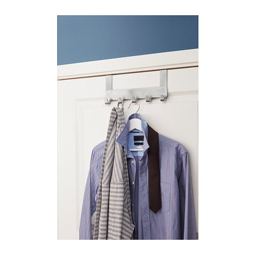BROGRUND Hanger for door IKEA Covered back prevents scratching of door.  Hanging storage helps you to convert unused space into a storage place.