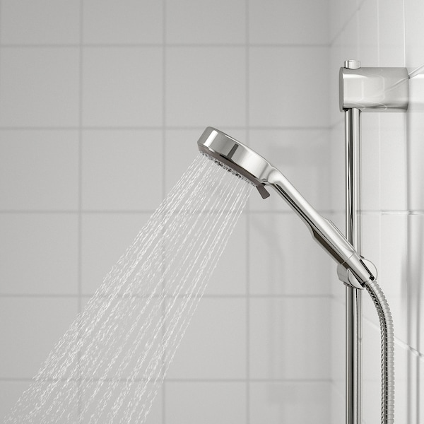 BROGRUND Riser rail with hand shower/outlet, chrome plated