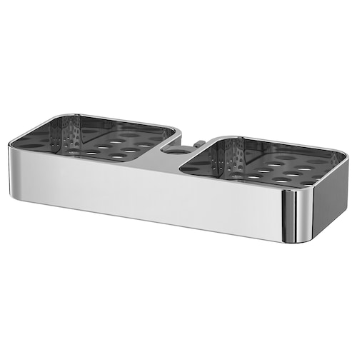 "BROGRUND shower shelf chrome plated 9 ¾ "" 4 ¼ "" 1 ½ """