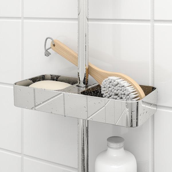 "BROGRUND Shower shelf, chrome plated, 9 ¾x1 ½ """