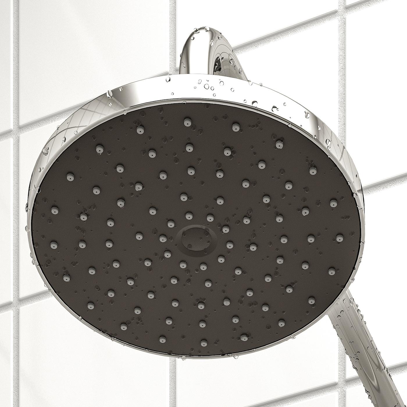 Chrome Plated IKEA 503.858.73 Brogrund 1-Spray Showerhead with Arm