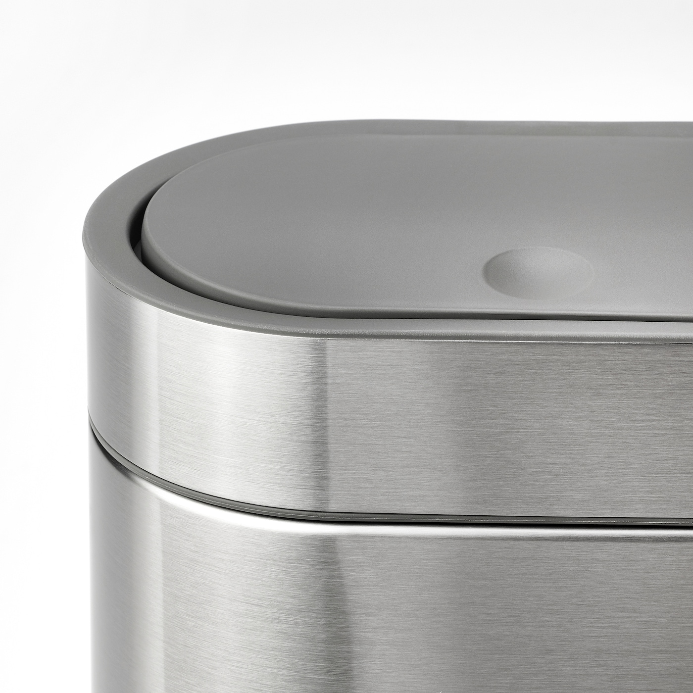 BROGRUND Touch top trash can, stainless steel, 1 gallon