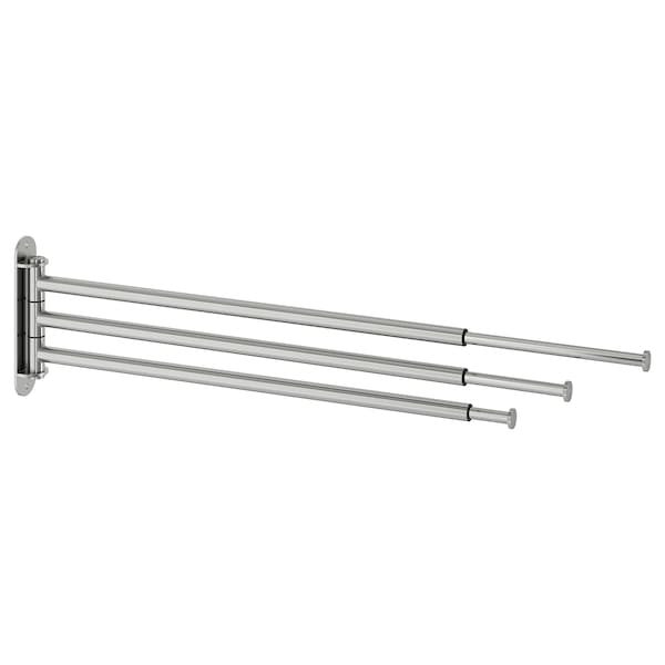 BROGRUND Towel holder, 3 bars, stainless steel
