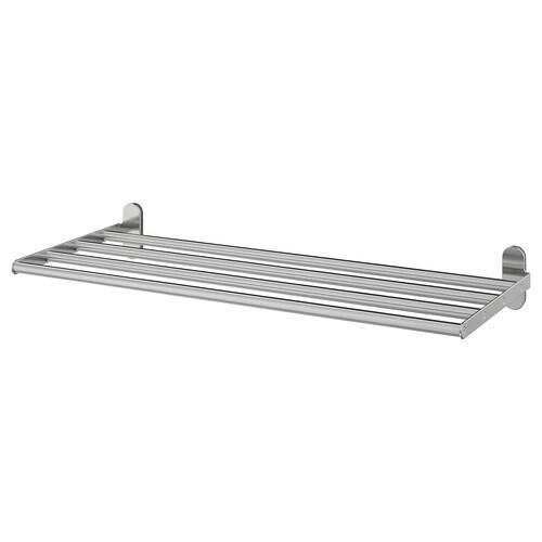 """BROGRUND wall shelf with towel rail stainless steel 26 3/8 """" 10 5/8 """""""