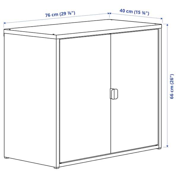 """BROR Cabinet with 2 doors, black, 29 7/8x15 3/4x26 """""""