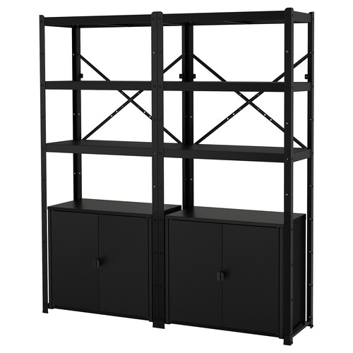 IKEA BROR Shelving unit with cabinets