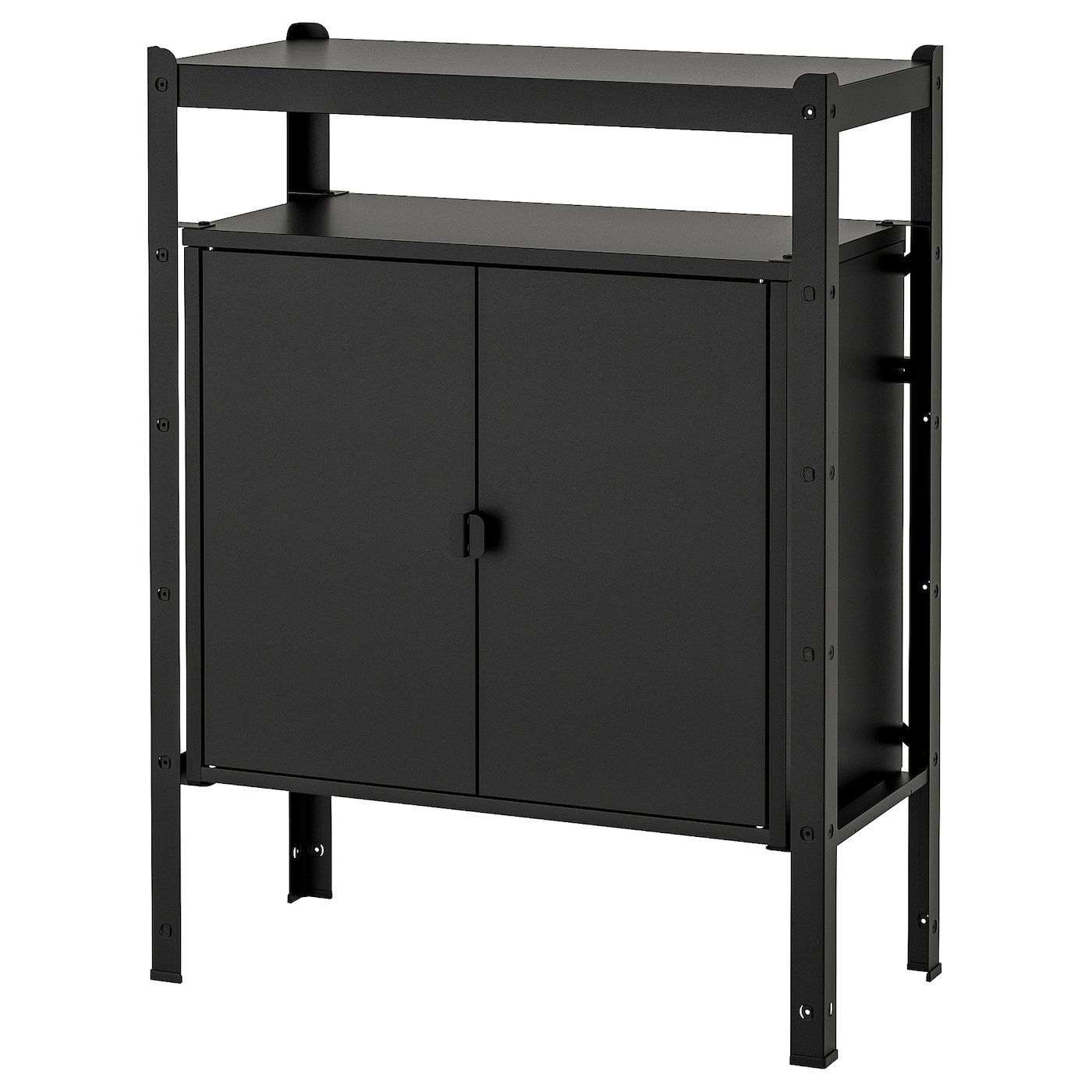 Bror Shelving Unit With Cabinets Black 33 1 2x15 3 4x43 1 4 Ikea