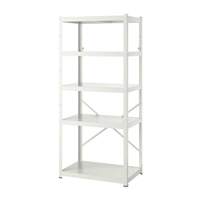 "BROR shelving unit white 33 1/2 "" 21 5/8 "" 74 3/4 """