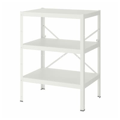 "BROR shelving unit white 33 1/2 "" 21 5/8 "" 43 1/4 """