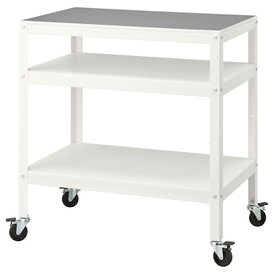 """BROR Utility cart, white, 33 1/2x21 5/8 """""""