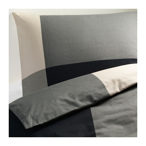 Brunkrissla duvet cover and pillowcase s full queen for Housse couette ikea