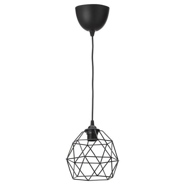 """BRUNSTA / HEMMA Pendant lamp, black, 8 """""""