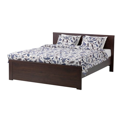 Brusali bed frame full lur y ikea for Ikea mattress frame