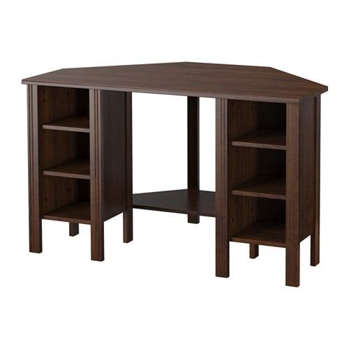 BRUSALI Corner desk, brown brown 47 1/4x28 3/4