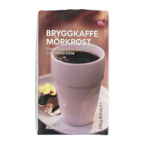 BRYGGKAFFE MÖRKROST Ground coffee, dark roast IKEA UTZ Certified; ensures sustainable farming standards and fair conditions for workers.