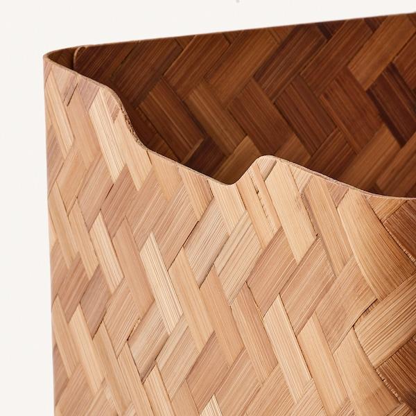 "BULLIG Box, bamboo/brown, 9 ¾x12 ½x9 ¾ """