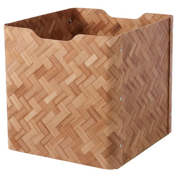 "BULLIG Box, bamboo/brown, 12 ½x13 ¾x13 """