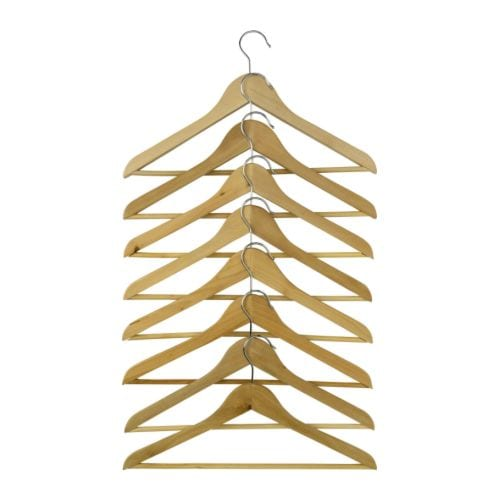 Bumerang curved clothes hanger natural ikea for Ikea clothes hangers