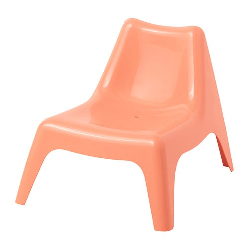 BUNSÖ Children's chair, outdoor, pale orange pale orange -