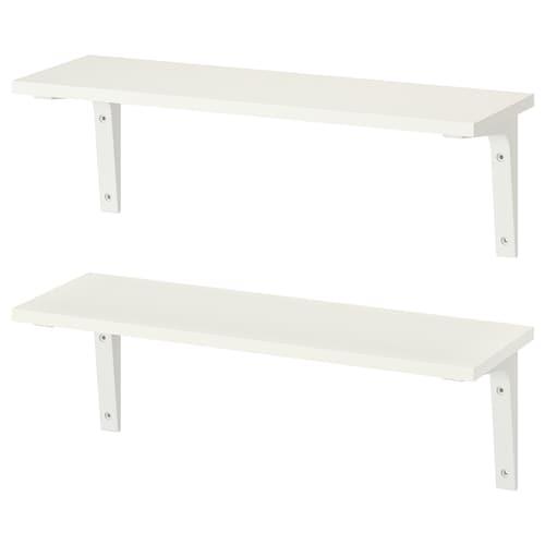 IKEA BURHULT / EKBY STÖDIS Wall shelf combination