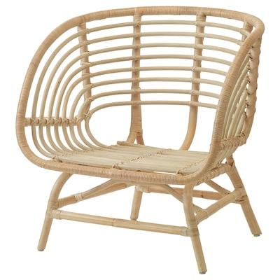 """BUSKBO armchair rattan 16 1/2 """" 28 3/8 """" 24 3/4 """" 29 1/2 """" 4 3/4 """" 16 7/8 """" 20 1/2 """" 12 5/8 """""""